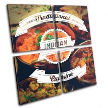 Indian Typography Food Kitchen - 13-6050(00B)-MP01-LO